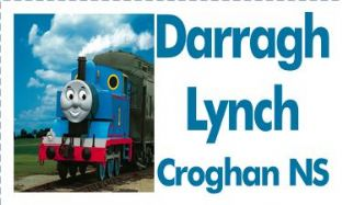Personalised Thomas Tank Engine School Book Stickers